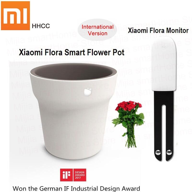 Original Xiaomi Mi Flora Monitor oder Flora Smart Blumentopf digitale Pflanzen Gras Blume Pflege Boden Wasser Licht Smart Tester Sensor