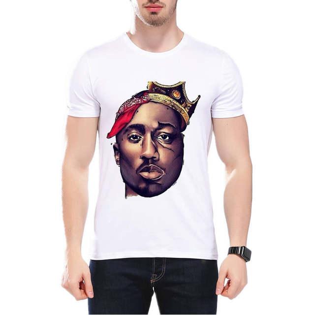 Vendita calda Marchio di Abbigliamento Tupac 2PAC Justin Bieber Bob Morley  Uomini di disegno Della Maglietta Rap Hiphop di Modo di estate Tee T-Shirt  L9J82