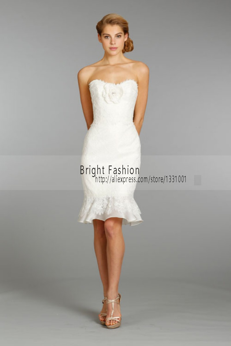 Short Wedding Dress 2015 Sexy Wedding Reception Dress Off Shoulder