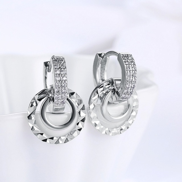 Купить 1 пара женских сережек маленькие круглые кубические серьги кольца картинки