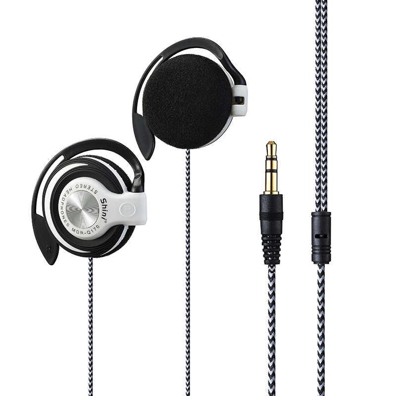 Shini Q170 Fones De Ouvido 3.5 milímetros Fone de Ouvido Esporte Gancho Fone De Ouvido Para xiaomi Mp3 Jogador Do Computador Fone de ouvido de Telefone Móvel Por Atacado
