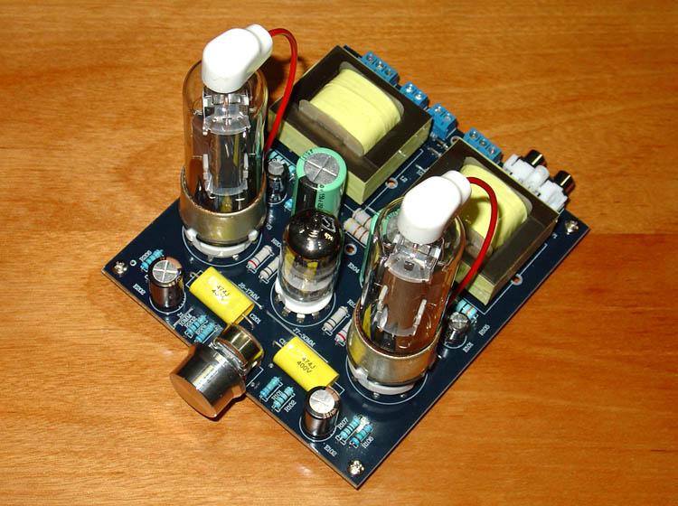 7W + 7W (8 Ohm) 6N1 / 6N2 + 6P13P Tube Single-Ended A-Class Heat Stage Tubular Amplifier Board 126 x 142 x 35mm7W + 7W (8 Ohm) 6N1 / 6N2 + 6P13P Tube Single-Ended A-Class Heat Stage Tubular Amplifier Board 126 x 142 x 35mm