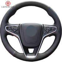 LQTENLEO Black Artificial Leather Hand-stitched Car Steering Wheel Cover For Buick Regal GS 2014-2016 Opel Insignia 2013-2016