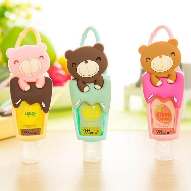 1pcs Cute Teddy Bear Hung Travel Portable Mini Plastic