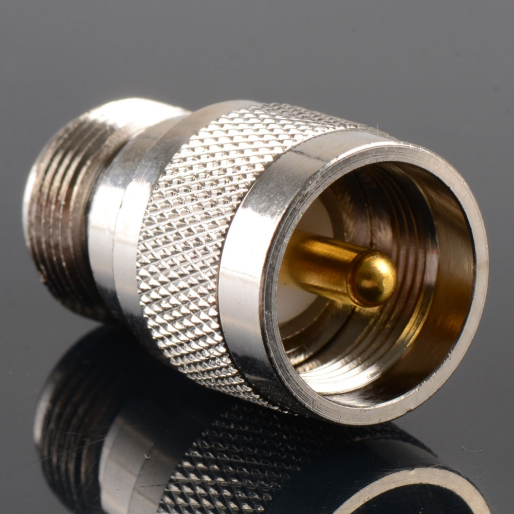 1Pc Adapter PL259 UHF Plug Male To N Female Jack RF Connector Straight 50 Ohm Nickel Plating new arrival high quality 3 5x2cm pl259 uhf plug connector male to sma female jack rf connector straight adapter