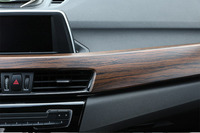 Luxury Wood Grain ABS Chrome Car Center Console Protection Panel Cover Car Styling For BMW X1 F48 2016 2017 2018
