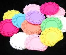 80 шт смешанных цветов 25 мм кабошон круглая смола рамка для