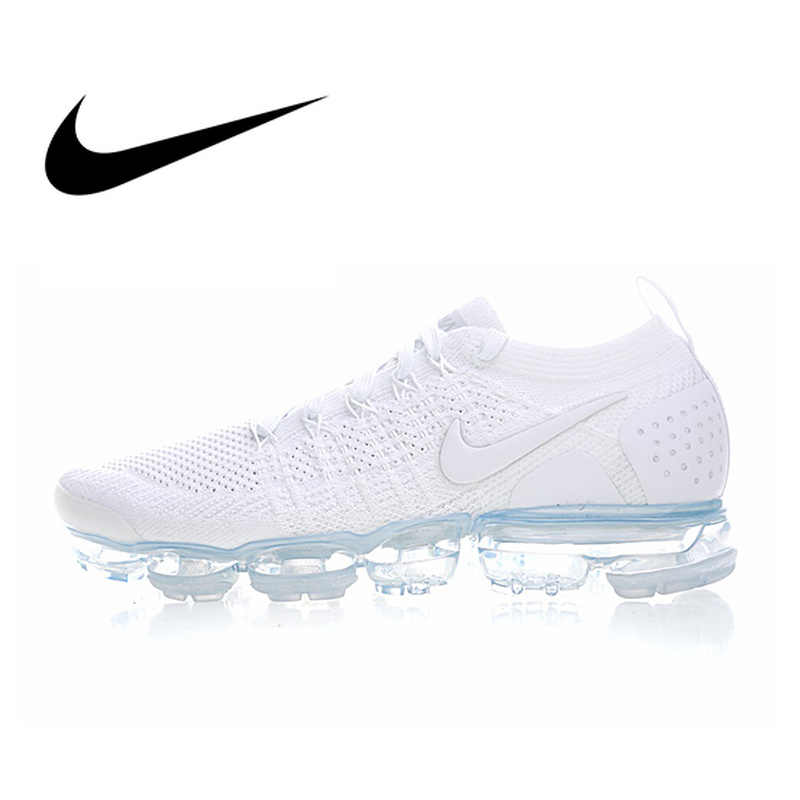 4a490d50514 Original Authentic NIKE AIR VAPORMAX FLYKNIT 2 Mens Running Shoes Sneakers  Breathable Sport Outdoor Cozy Durable