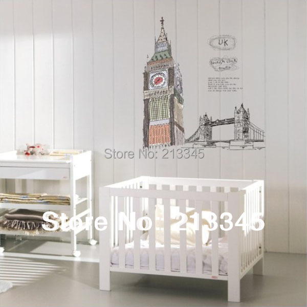 saturday Monopoly  Famous Buildings Big Ben London Bridge Sticker Home  Office Living Room Decor Parede Diy Wall Stickers Uk. Uk Office Furniture Reviews   Online Shopping Uk Office Furniture