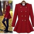 Женщин шерстяное пальто новая женская одежда новый зима теплая ткань большой двубортные пальто европа и америка vestidos LJA126