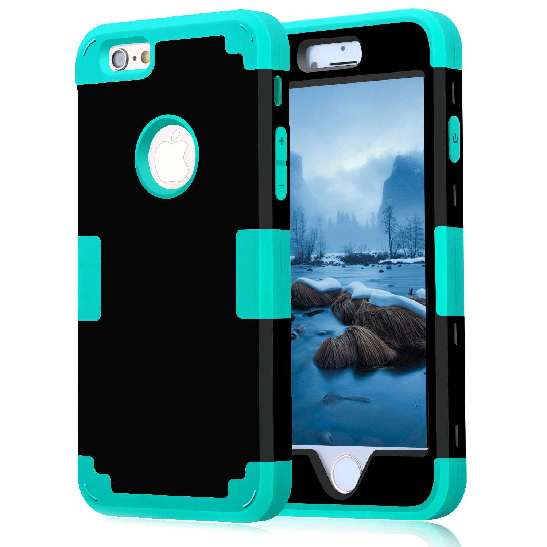 Para apple iphone 7 caso à prova de choque proteger híbrido de borracha dura impacto armadura casos de telefone para iphone 5//5S/5c/se/6/s plus/7 capa
