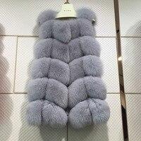 Hot Fashion Genuine Fox Fur Vest Women S Full Pelt Gilet Luxury Whole Piece Fox Fur