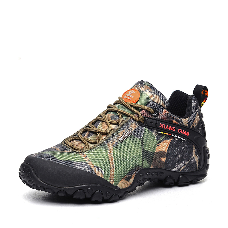 New Camo Ladies Mesh Lace-up Low-top Waterproof Outdoor Climbing Hiking Shoes Women Breathable Sport Travel Trekking Sneakers new 2017 brand men spring autumn outdoor climbing shoes couple climbing hiking lace up rubber breathable shoes 8037