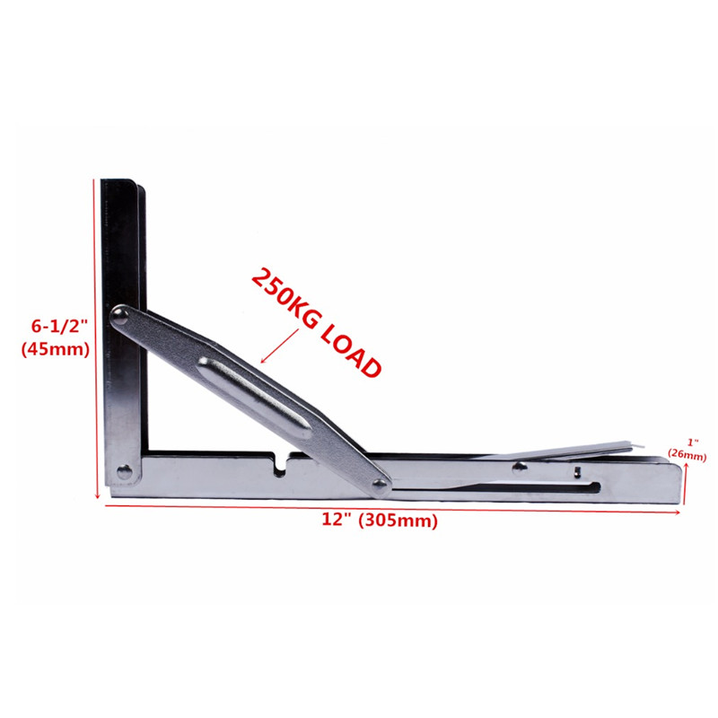 Boat Parts & Accessories Home Furnishing Heavy Duty Stainless Steel Shelf Bracket 11 Folding Table Seat Brackets 250kg Load Automobiles & Motorcycles