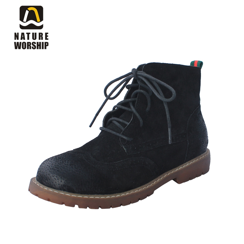 Full Grain Leather women boots Lace-Up Motorcycle retro style ankle boots low heels women shoes Solid fashion British style serene handmade winter warm socks boots fashion british style leather retro tooling ankle men shoes size38 44 snow male footwear