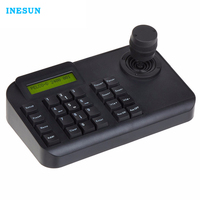 Inesun 3D Joystick PTZ Camera Keyboard Controller RS485 PELCO D/PELCO P With LCD Display for Pan Tilt Zoom PTZ Speed Dome Camera