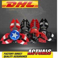 50pcs Lot The Avengers Captain America Fidget Spinner Metal Hand Spinner Alloy Finger Spinner Tri Spiner