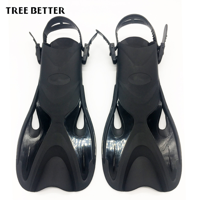 Adjustable Open heels Flipper for Adult Scuba Diving shoes for swimming fins Snorkeling men women Deep dive equipment Training