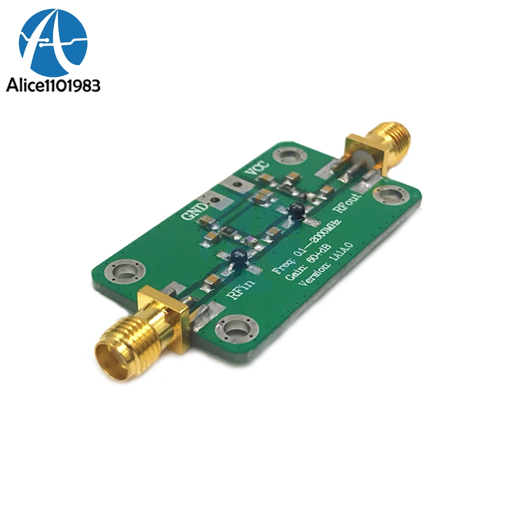 Integrated Circuits Constructive Lna 0.1-2000 Mhz 60db High Gain Low Noise Amplifier Board Rf Broadband Module Dc 6-12v 35ma Board To Win A High Admiration And Is Widely Trusted At Home And Abroad. Electronic Components & Supplies