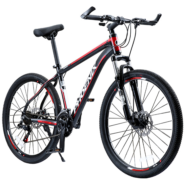 Phoenix Bicycle 24 26 Double Disc Brake 21 Speed Men's Mountain Bicycle Aluminum Alloy Road MTB Bike Teenage Student Cycling you ma 26 inch 21 24 27 speed aluminum alloy frame mountain bike double disc brakes student bicicleta bicycle free shipping