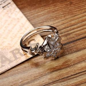 Image 3 - Fine Jewelry 100% จริง 925 Soild เงินสเตอร์ลิงแหวน LOTR The Galadriel Nenya Zircon Ennagement แหวน