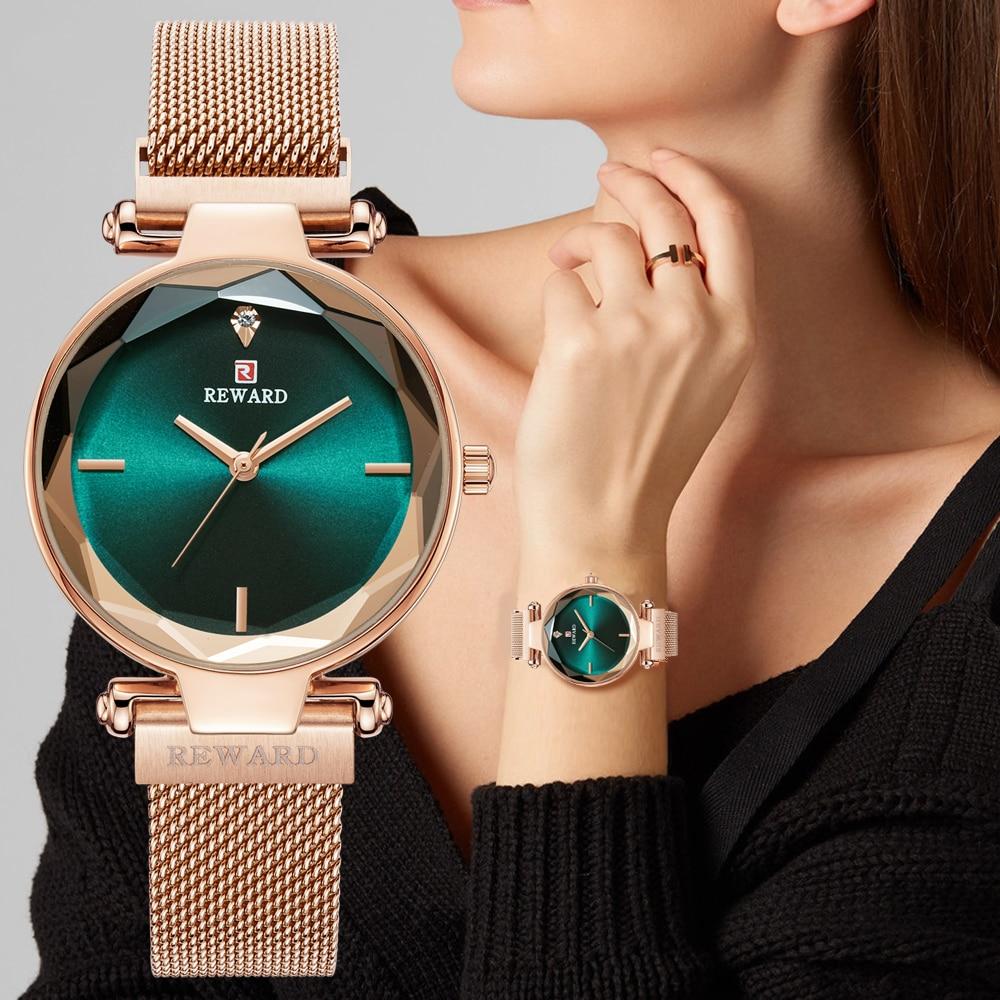 REWARD Simple Women Watches Fashion Magnetic Buckle Rose Gold Quartz Wrist Watch Ladies Waterproof Clock Girl Relogio Feminino|Women's Watches| - AliExpress