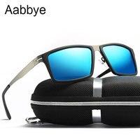 Aabbye 2019 Fashion Men's Frameless Polarized Sunglasses Classic Pilot Goggles