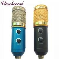 2017 MK F200TL Professional USB Condenser Microphone For Video Recording Karaoke Radio Studio Microphone For PC