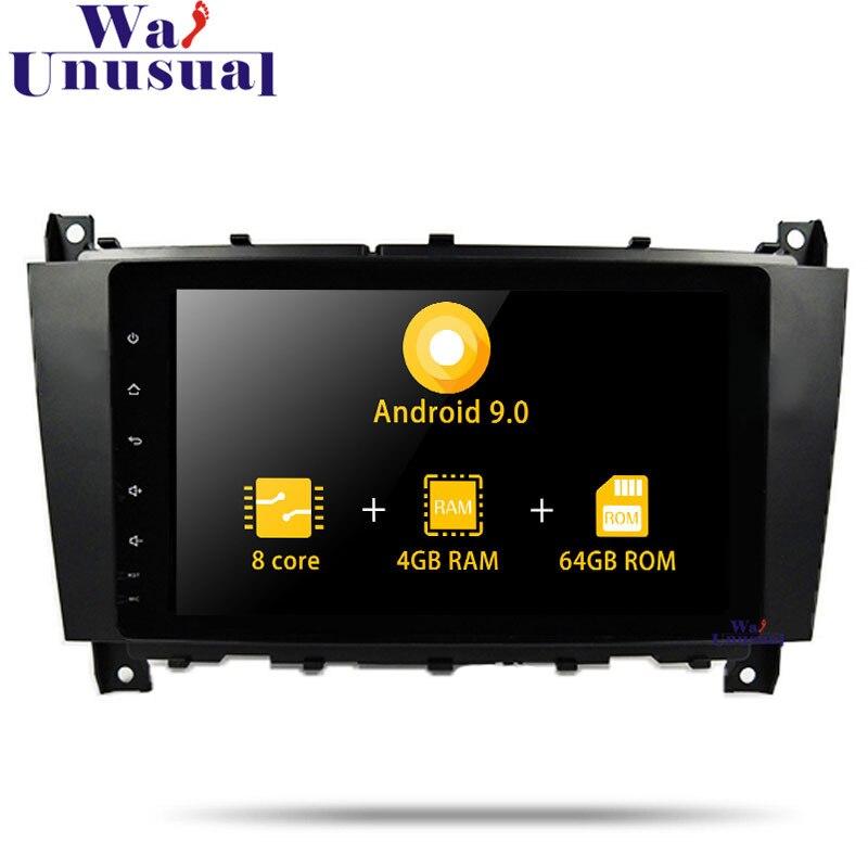 Navigation GPS de voiture wanhabituel Android 9.0 pour Benz C-W203 (2004 2005 2006 2007) CLK W209 (2004-2005) pas de lecteur Radio DVD 2 Din MP4