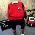 winter baby boy sport set spiderman clothes causal pants Tracksuit kids baby spiderman suit boys girls red hoodie coat+trousers