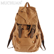 цена на Muchuan 2105ND canvas Vintage DSLR SLR Camera Backpack with Removable Inner Bag School Military Bag for Canon For Nikon For Sony