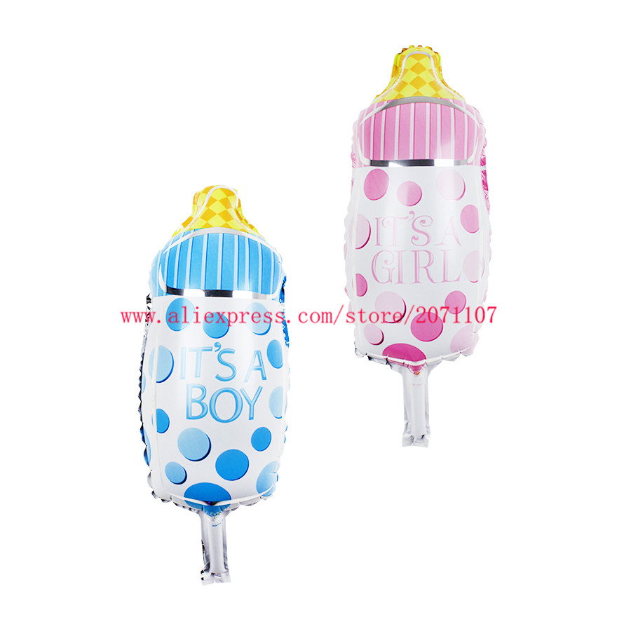 Lucky 50pcs Lot Milk Bottle Mini Balloon Baby Shower Foil
