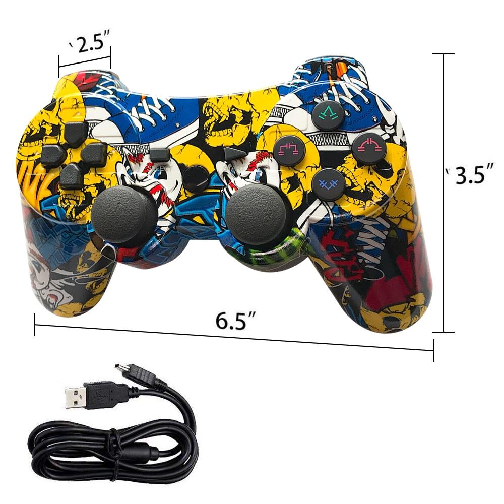 K ISHAKO Mutil Colored Wireless Bluetooth Gamepad For Ps3 Pro Controller Gamepad Dualshock Joystick For Plastation3 Consoles