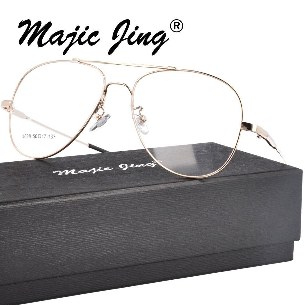 Magic Jing Memory Metal RX optické rámečky krátkozraké brýle Brýle Brýle na plný úvazek pro muže 3028