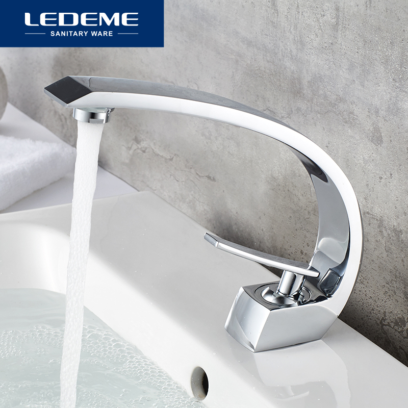 LEDEME New Basin Faucet Chrome Spray Bass Faucet Sink Mixer Tap Bathroom Faucet Single Holder Single Hole Bath Faucets L1055-24LEDEME New Basin Faucet Chrome Spray Bass Faucet Sink Mixer Tap Bathroom Faucet Single Holder Single Hole Bath Faucets L1055-24