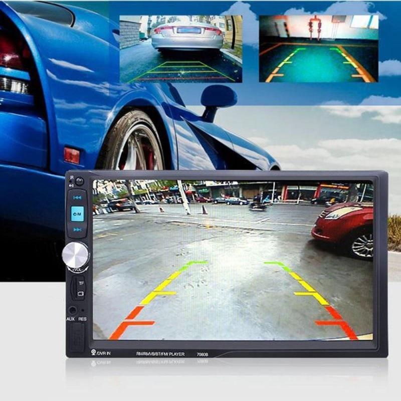 2 Din In Dash 7 Inch 7080B Touch Screen Car MP5 Bluetooth Radio Auto audio Player Stereo USB SD Rear View Camera autoradio цена