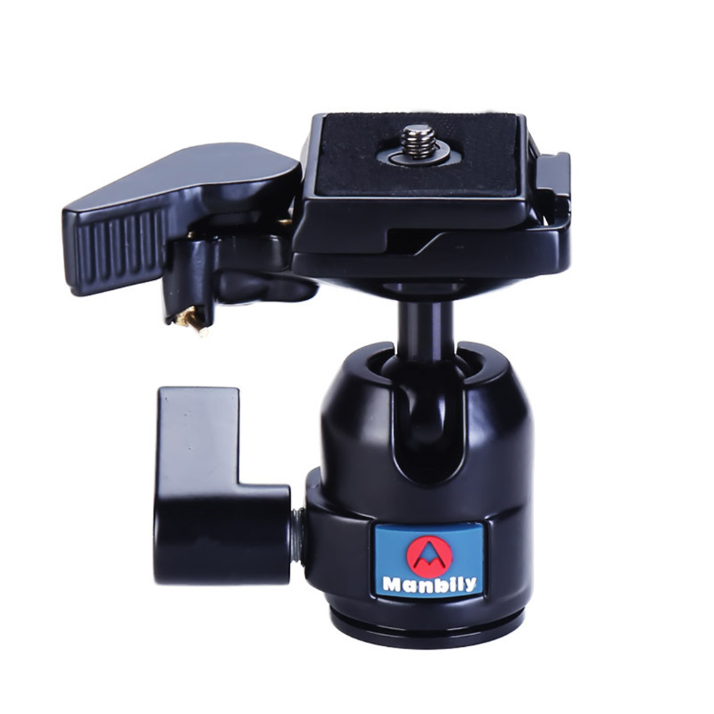 High quality Professional Aluminum alloy Ball Head Gimbal for Monopod Tripod adaptor mount With 1 4 quot Screw for Canon Nikon DSLR in Tripod Heads from Consumer Electronics