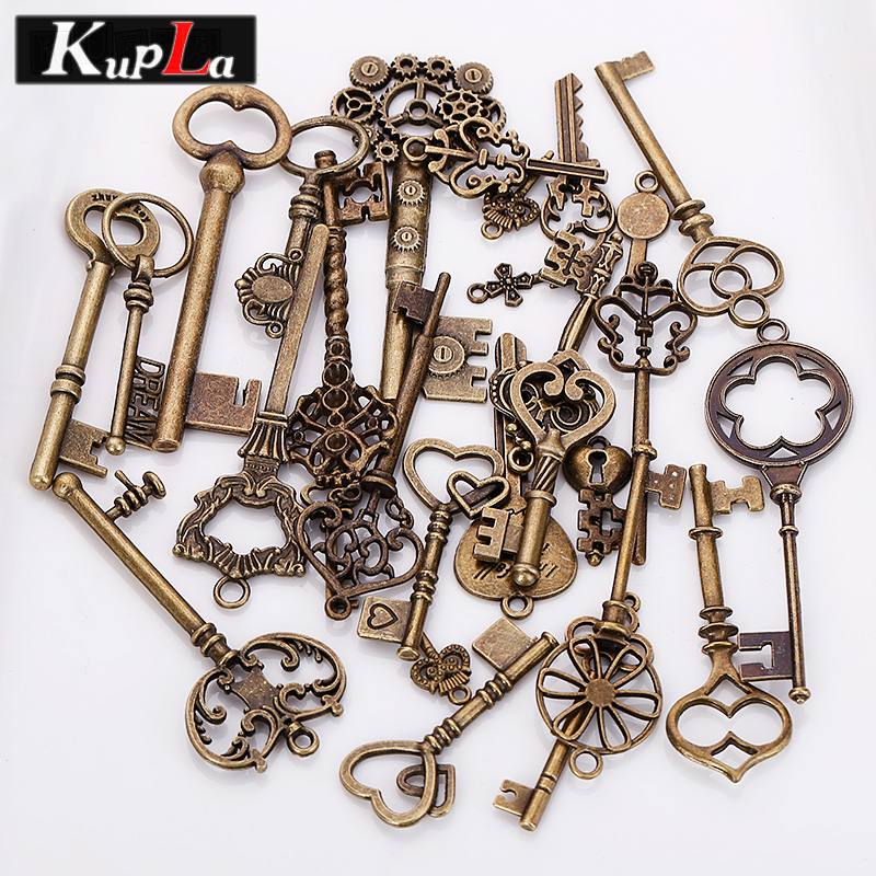 Vintage Wire Chain Jewelry Making Brass Chain Custom: Mixed Charms Vintage Metal DIY Handmade Charms For Jewelry
