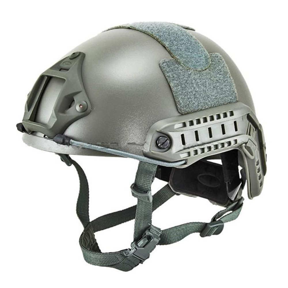 Casco rápido táctico Emerson Airsoft casco DE salto DE Base rápida (follaje verde BK DE MC en ATFG Mandrake) 5658