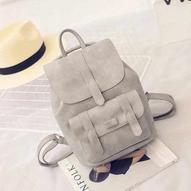 Toposhine Famous Brand Backpack Women Backpacks Solid Vintage Girls School Bags for Girls Black PU Leather Women Backpack 1523 | HOTSHOPDIRECT