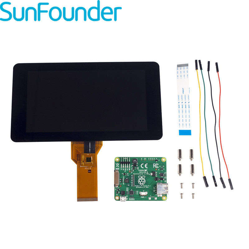 "Official Raspberry Pi Foundation 7"" Touchscreen LCD Display For Raspberry Pi 3 Model B-in Demo Board Accessories from Computer & Office"