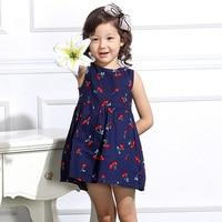 Fashion Birthday Dresses Kids Cool Kids Summer Dress Cherry Baby Girl Party Dresses Princess Vestido Festa