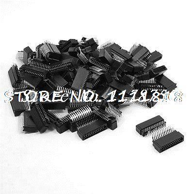 100 Pcs 2.0mm Pitch Dual Row 2x12 Pin Angle IDC Male Headers 24 Pins все цены