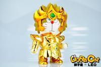 Anime DoraCat Doraemon Cos Saint Seiya Leo PVC Action Figure Collectible Model Toy 15cm KT2135