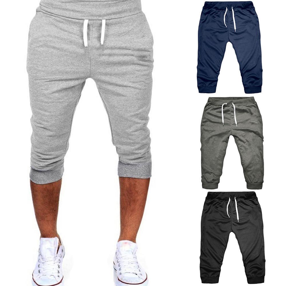 MANVIE Summer Men Gym Workout Jogging Shorts Pants Fit Elastic Casual Sportswear Short Pants Men Pants Joggers 9.14