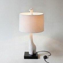 Европейская мода креативное освещение настольные светильники детская комната лампа кабинет минималистский Ткань Гостиная жираф-олень настольные лампы