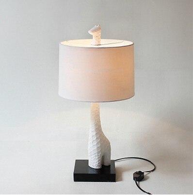 Ijverig Europese Mode Creatieve Verlichting Tafel Lichten Kinderkamer Lamp Studie Minimalistische Stof Woonkamer Giraffe Herten Tafellampen Hoge Veiligheid