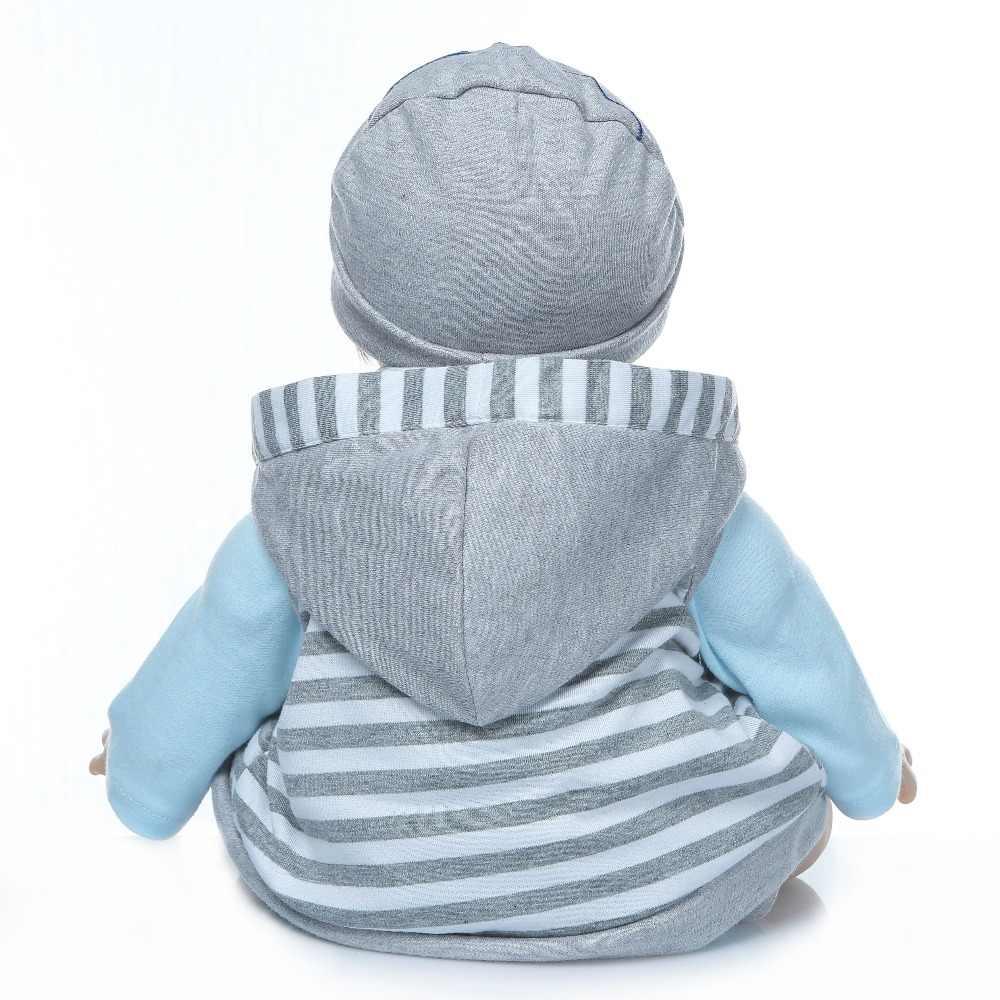 NPK 55 centímetros bebes reborn boneca de silicone macio real toque silicone renascer baby dolls criança do aniversário dos miúdos presente de Natal popular
