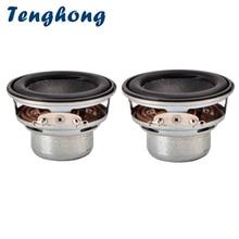 Tenghong 2 قطعة سماعات محمولة صغيرة الصوت 45 مللي متر 4Ohm 8 واط كامل المدى المتكلم وحدة 18 الأساسية للمنزل مسرح نظام الصوت لتقوم بها بنفسك