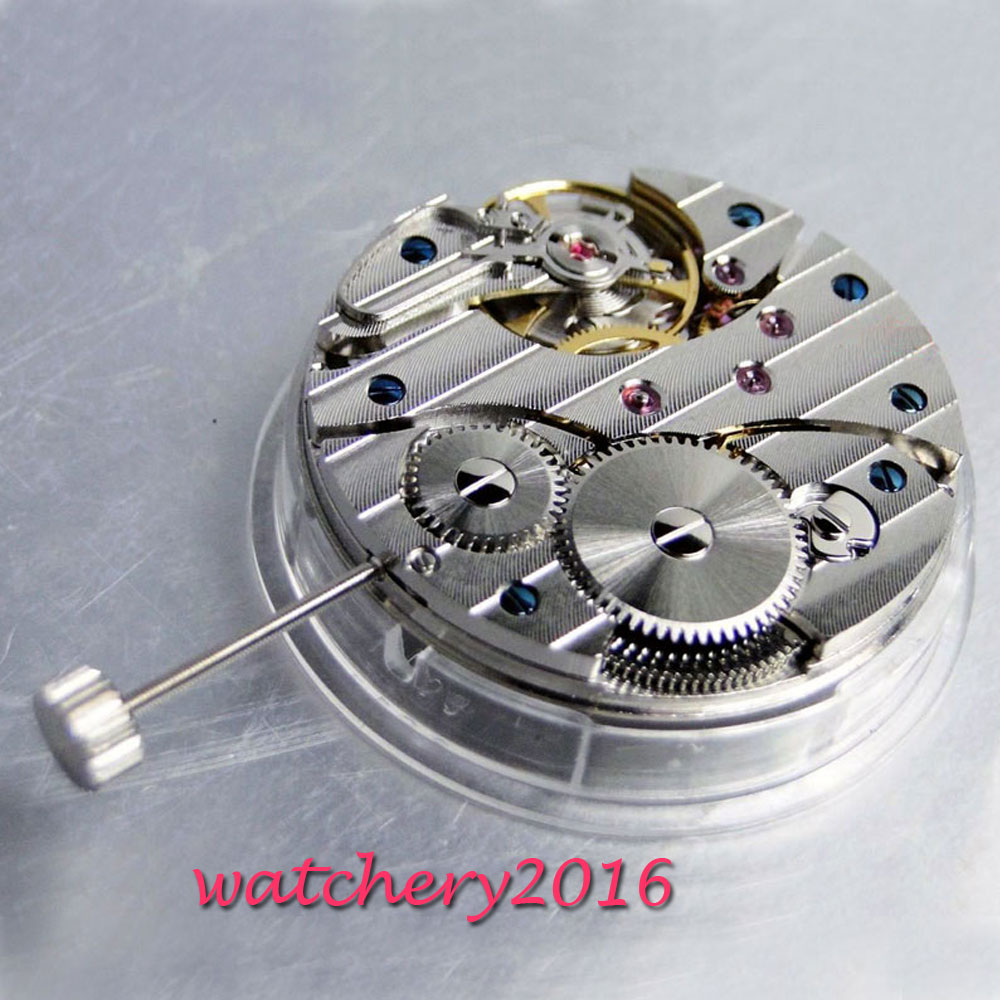 17 Jewels 6497 Swan Neck Mechanical Hand Winding Vitage Men's Watch Movement